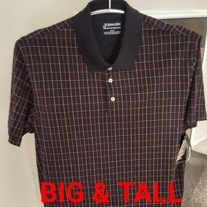 Mens Polo Short Sleeve Golf Shirt Big And Tall NWT